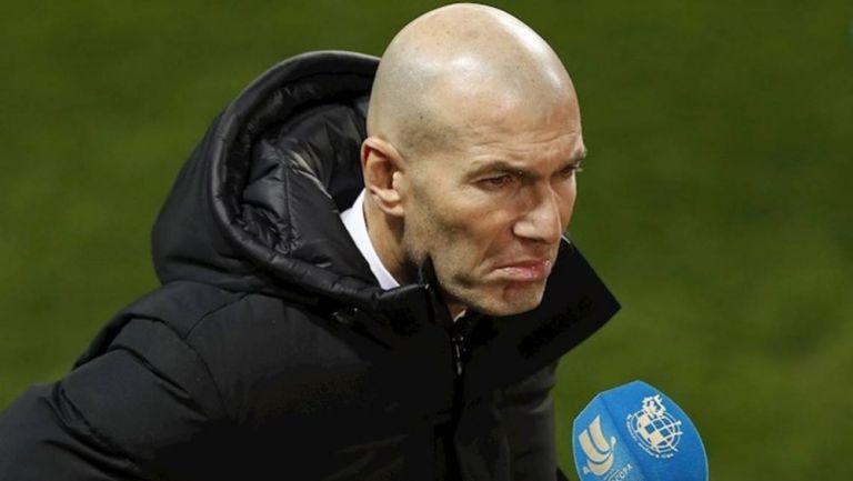Zinedine Zidane tras un partido del Real Madrid