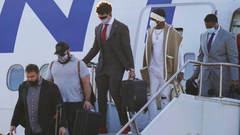 Chiefs llegando a Tampa Florida