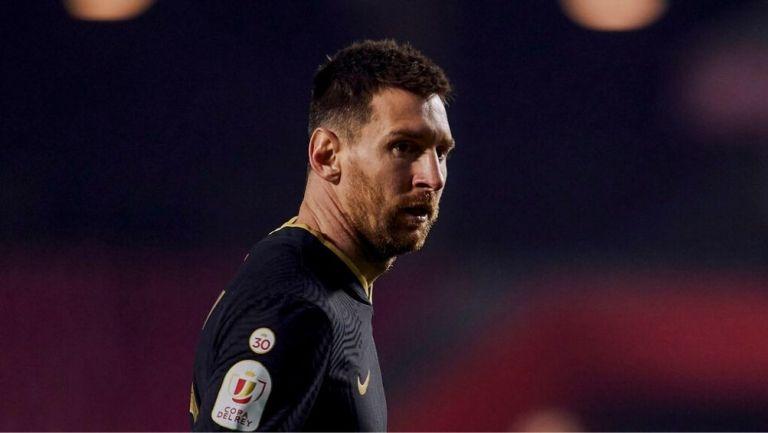 Messi en el partido con Barcelona