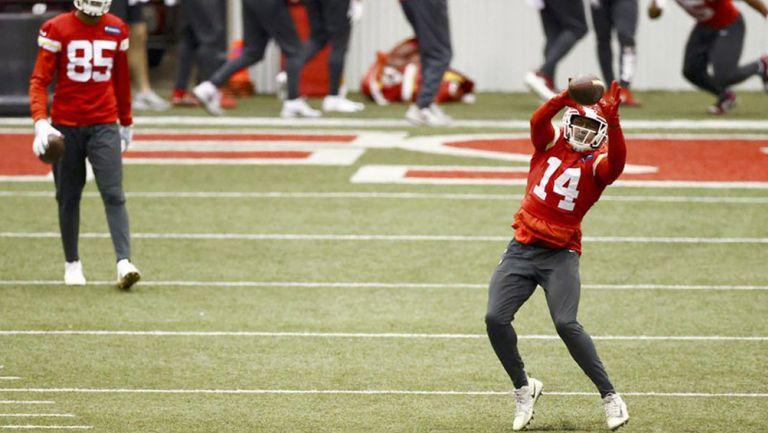 Sammy Watkins, en una práctica de los Chiefs