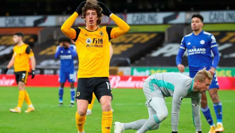 Favio Silva en lamento ante Leicester