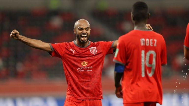 Jugadores del Al Duhail festejando el triunfo sobre el Ulsan