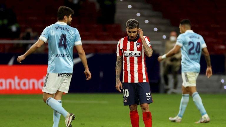 Correa se lamenta tras empate del Celta