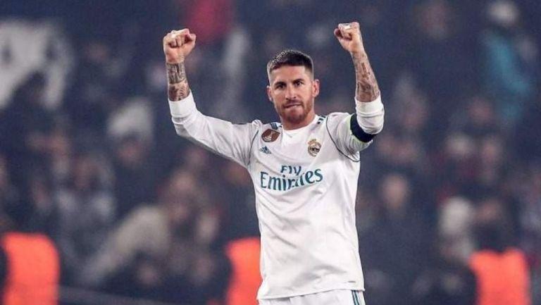Sergio Ramos en un partido con el Real Madrid