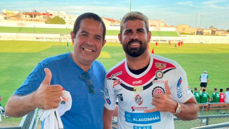 Diego Costa, 'presentado' con el Atlético de Alagoinhas