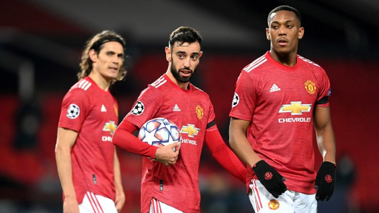 Jugadores del Manchester United durante un duelo