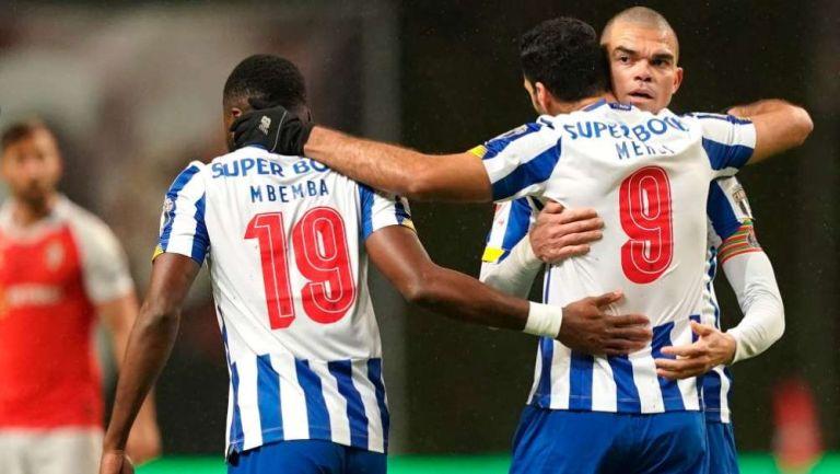 Jugadores de Porto en festejo