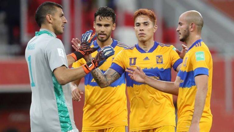 Tigres en partido Mundial de Clubes