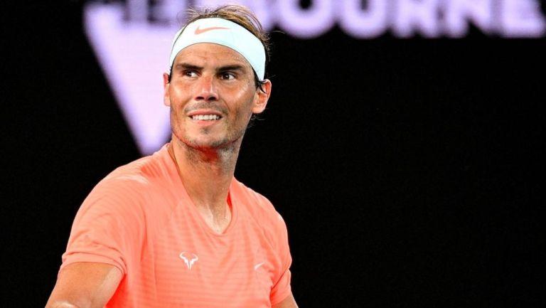 Rafael Nadal en un juego del Australian Open ante Michael Mmoh