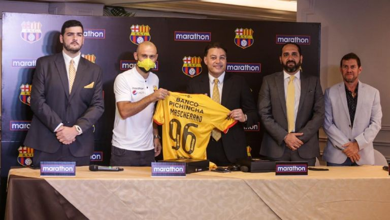 Javier Mascherano: Llegó para la 'Noche Amarilla' del Barcelona de Guayaquil