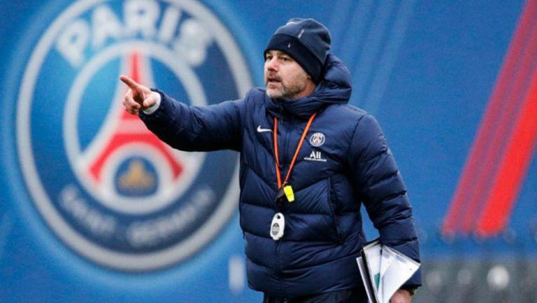 Mauricio Pochettino en práctica del París Saint-Germain