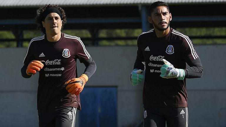 Ochoa y Corona, en entrenamiento del Tri