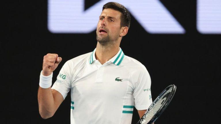Novak Djokovic tras derrotar a Milos Raonic