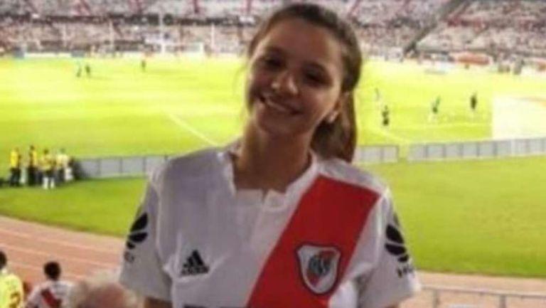Úrsula en partido del River Plate