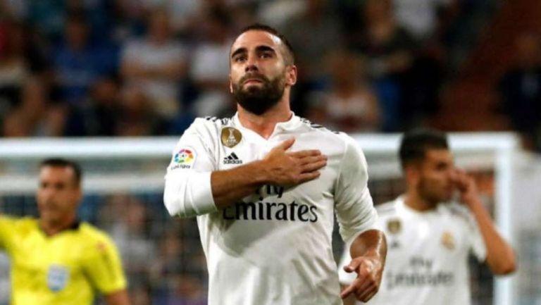 Carvajal en partido con Real Madrid