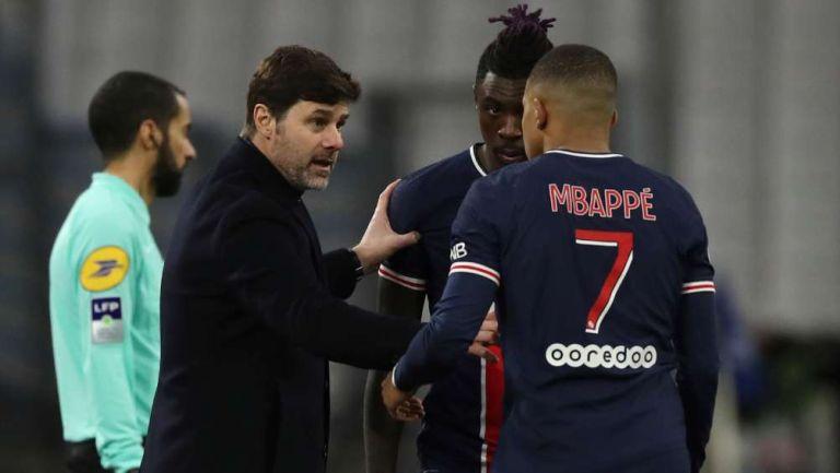 Mbappé en partido con PSG
