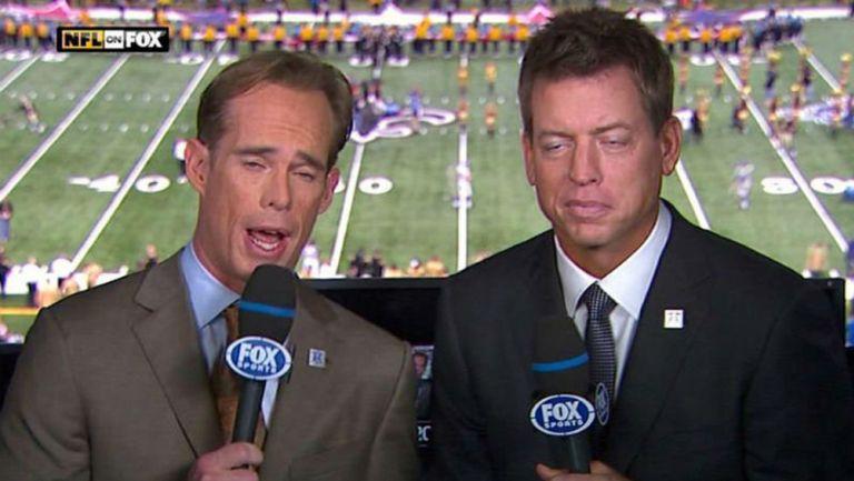 Joe Buck and Troy Aikman, durante una transmisión