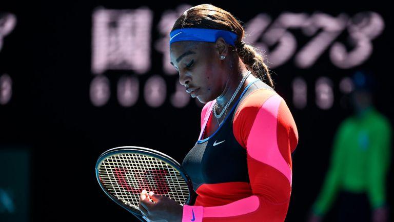 Serena Williams tras ser eliminada del Australian Open