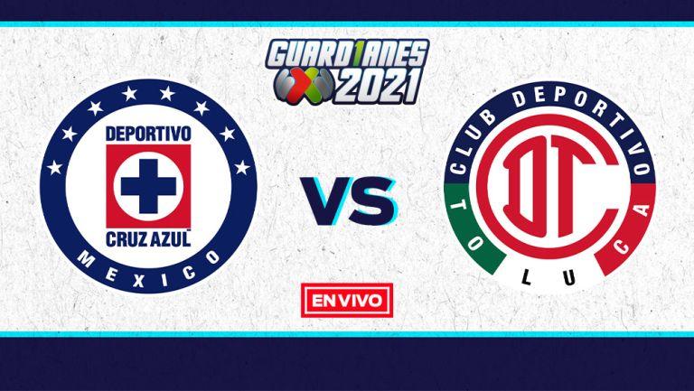 EN VIVO Y EN DIRECTO: Cruz Azul vs Toluca Guardianes 2021 J7
