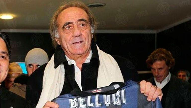 Mauro Bellugi es recibido por aficionados del Inter