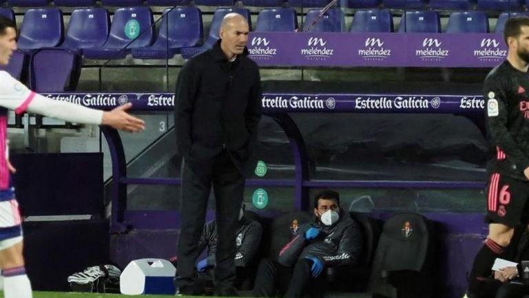 Zidane en el partido vs Valladolid