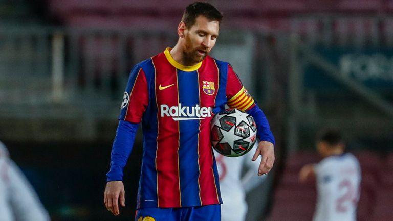 Messi, durante el partido contra PSG