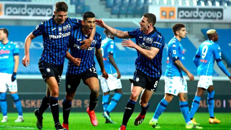 Atalanta en festejo de gol