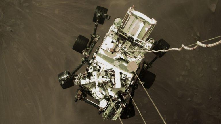 'Perseverance' aterrizando en Marte