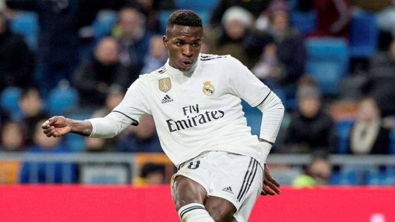 Vinícius en partido con Real Madrid