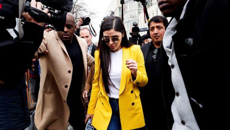 Emma Coronel al momento de su detención