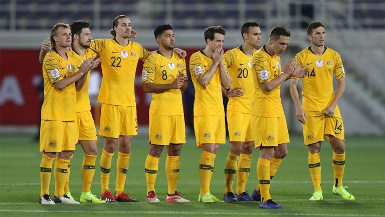 Selección de Australia durante una competencia