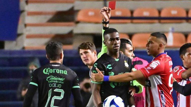 Félix Torres tras la expulsión contra San Luis