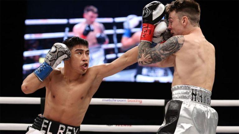 Rey Martínez en una pelea
