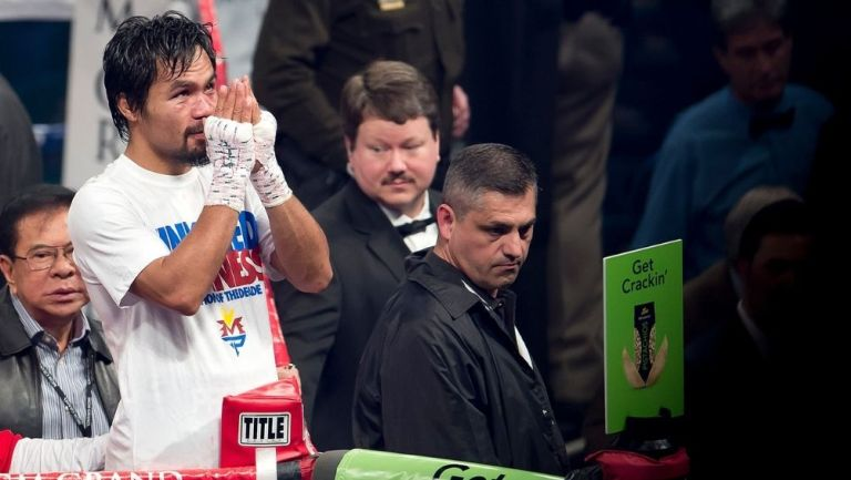 Manny Pacquiao en una pelea