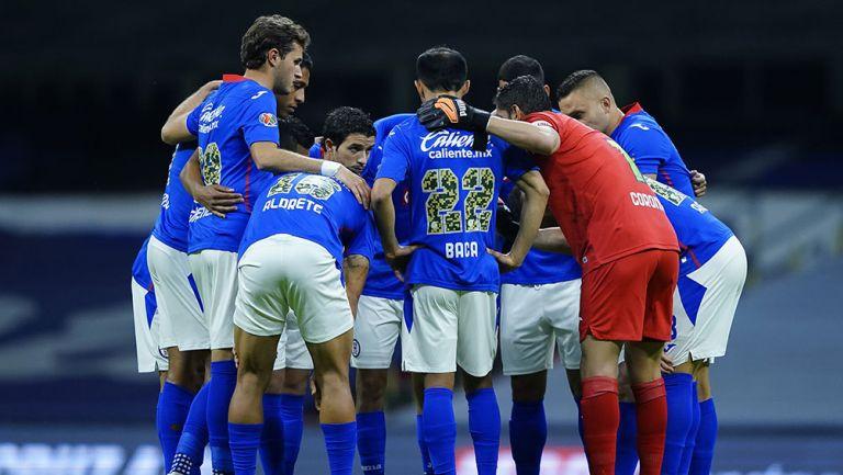 Jugadores de Cruz Azul previo al partido vs Toluca