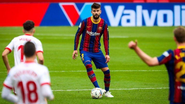 Gerard Piqué en juego del Barcelona vs. Sevilla