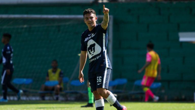 Marco García celebrando gol ante Chivas en la Sub 20