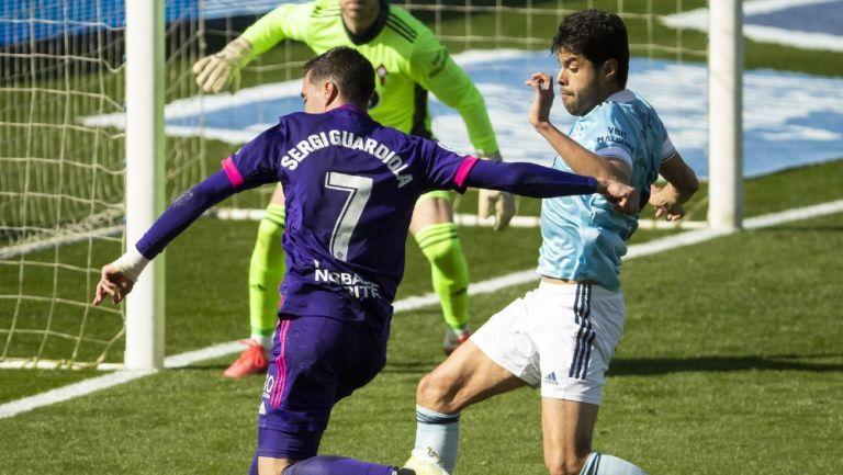 Néstor Araujo: El zaguero mexicano salió lesionado en empate del Celta ante Valladolid