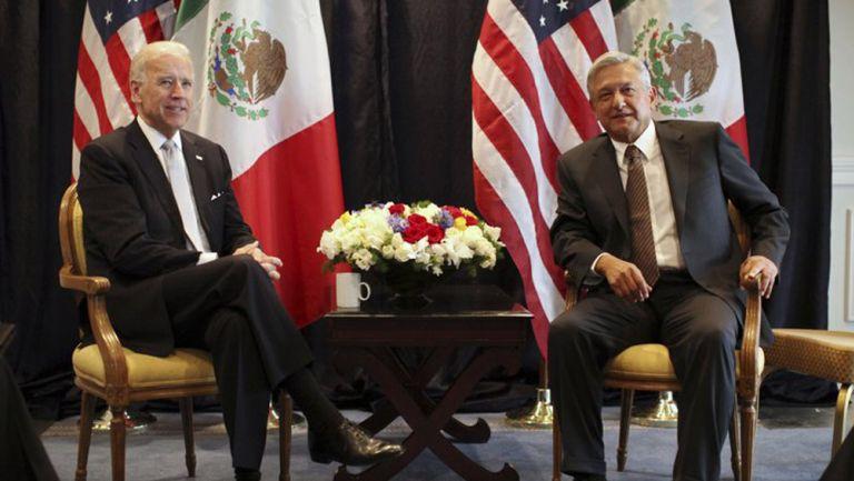 Joe Biden y AMLO en una reunión