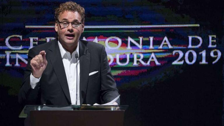 David Faitelson durante un evento