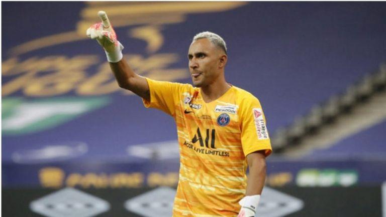 Keylor Navas en un partido con el PSG