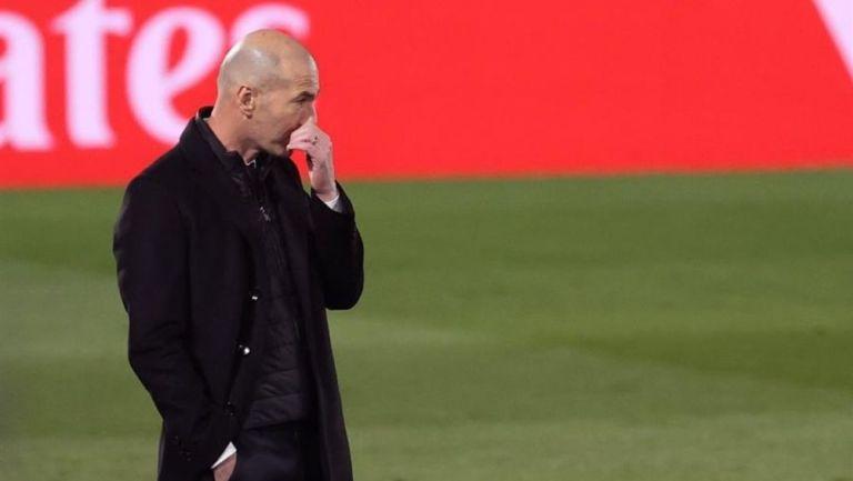 Zidane en el partido contra la Real Sociedad