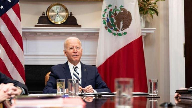 Joe Biden y AMLO se reunieron por videollamada