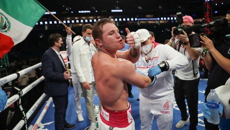 Canelo Álvarez después de su pelea