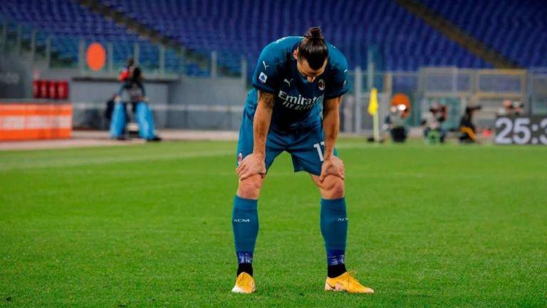 Zlatan Ibrahimovic en lamento con el Milan