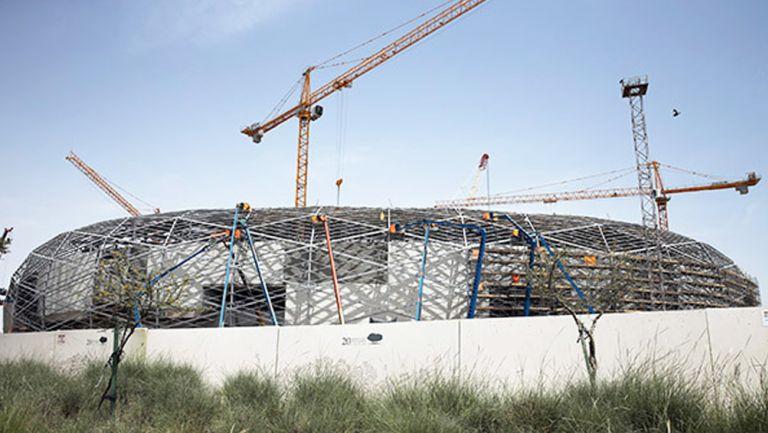Estadio para el Mundial de Qatar 2022, en construcción