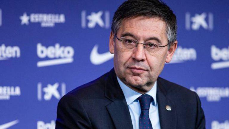 Josep Maria Bartomeu durante una conferencia de prensa