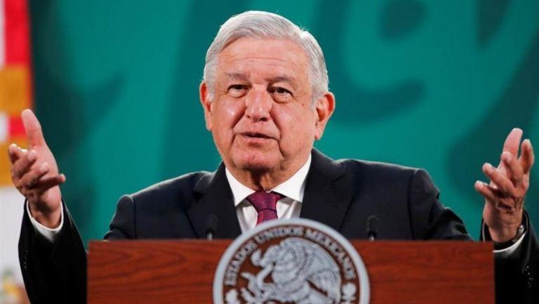 López Obrador durante su conferencia mañanera