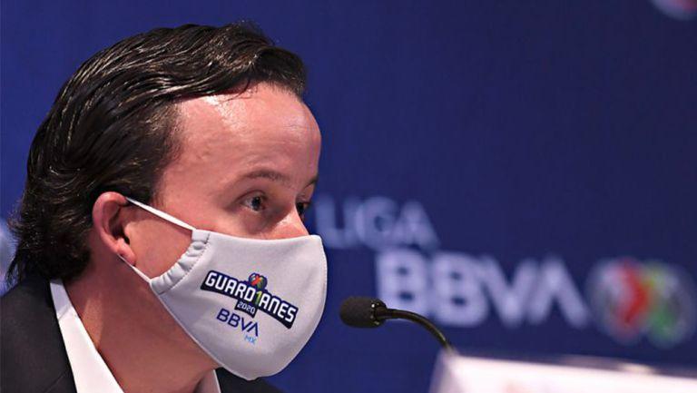 Mikel Arriola, en conferencia de prensa