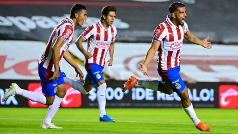Miguel Ponce tras anotar el gol del empate